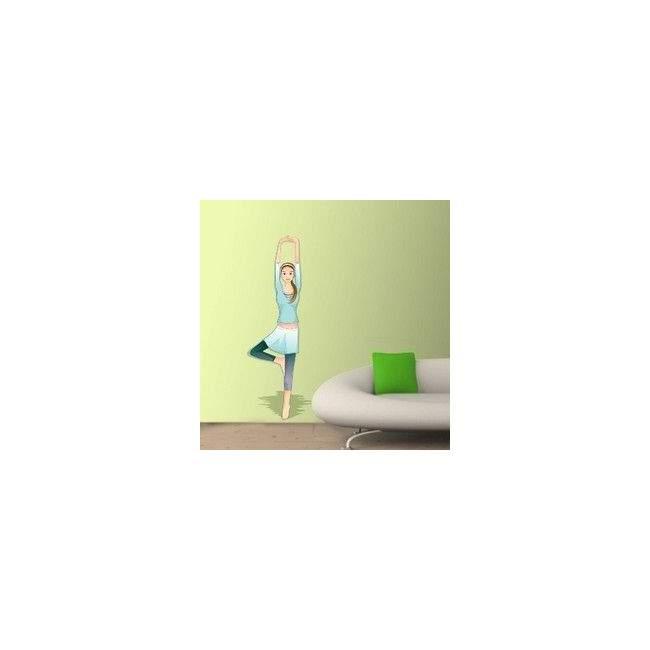 Αυτοκόλλητο τοίχου Γυμναστική, γυναίκα γυμνάζεται