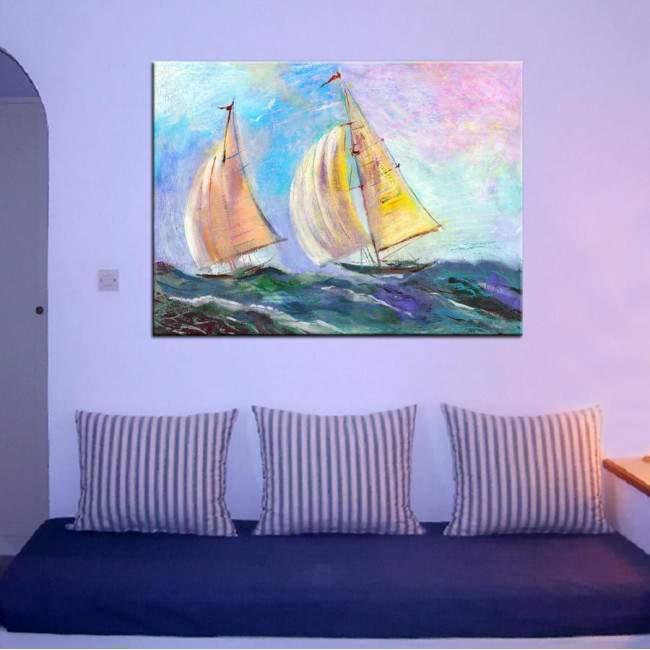Πίνακας σε καμβά Ιστιοφόρα,  Sailing