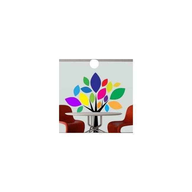 Αυτοκόλλητο τοίχου Πολύχρωμο δέντρο