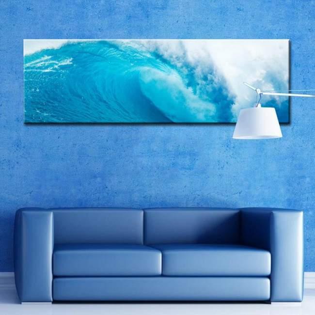 Πίνακας σε καμβά Κύμα, Wave, πανοραμικός