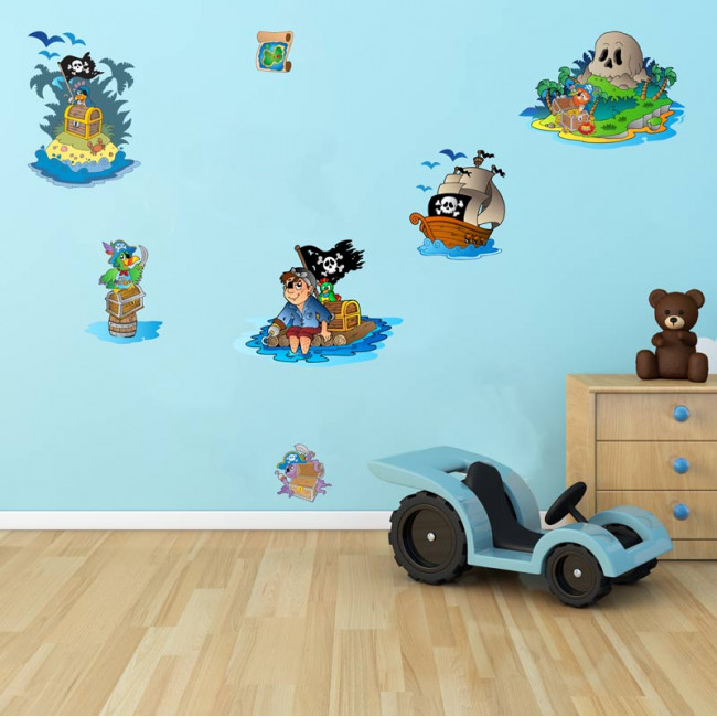Αυτοκόλλητα τοίχου παιδικά Το νησί των πειρατών