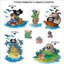 Kids wall stickers Island of pirates