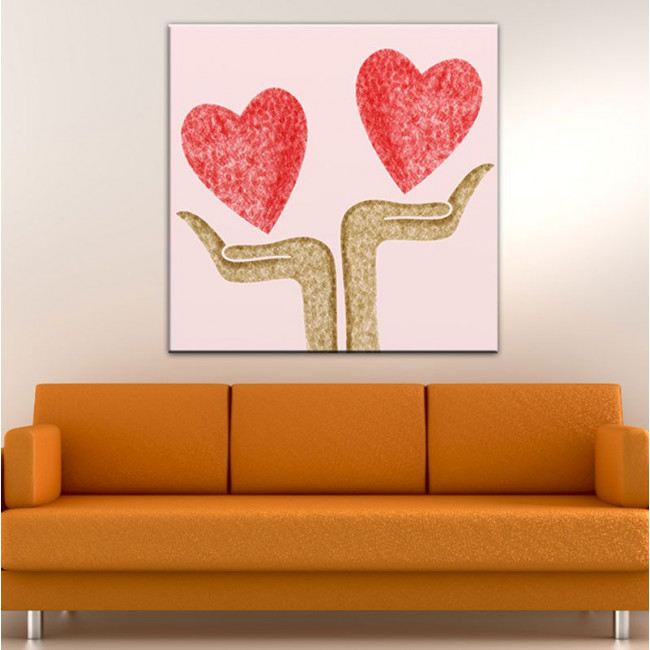 Canvas print Heart at your Hands