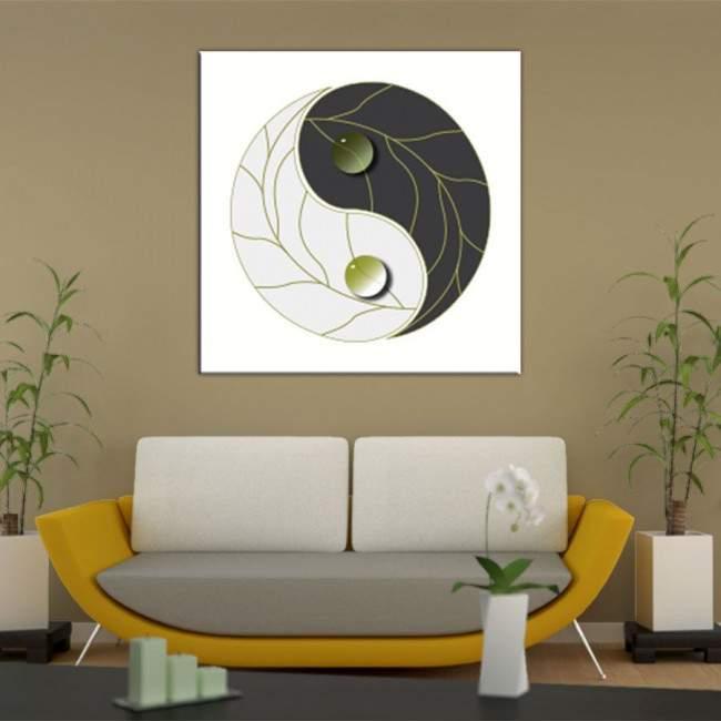 Πίνακας σε καμβά Γιν & Γιάνγκ
