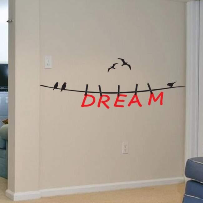 Αυτοκόλλητο τοίχου φράσεις. Dream