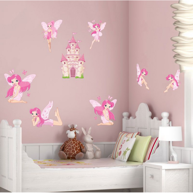 Kids wall stickers Fairies and castles