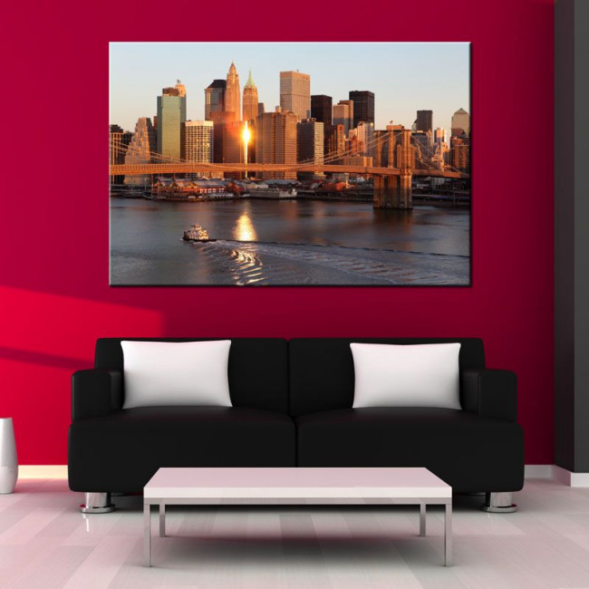 Πίνακας σε καμβά Νέα Υόρκη, New York sunrise