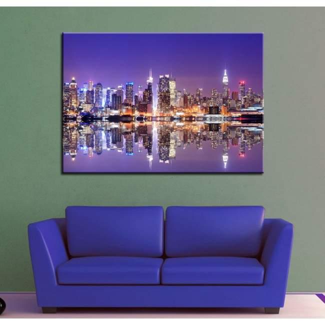 Πίνακας σε καμβά Νέα Υόρκη, New York reflections