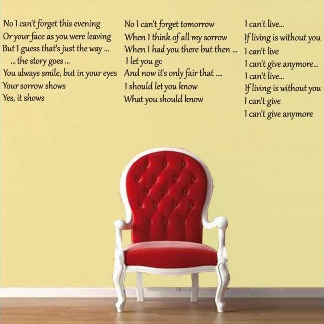 Αυτοκόλλητο τοίχου φράσεις. No I can't forget...