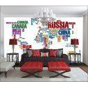 Ταπετσαρία τοίχου World map