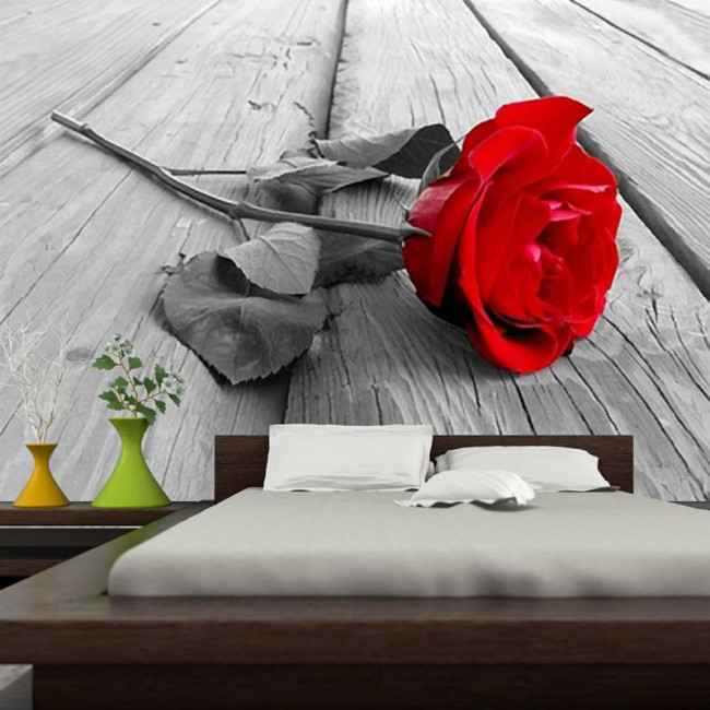 Ταπετσαρία τοίχου Κόκκινο τριαντάφυλλο