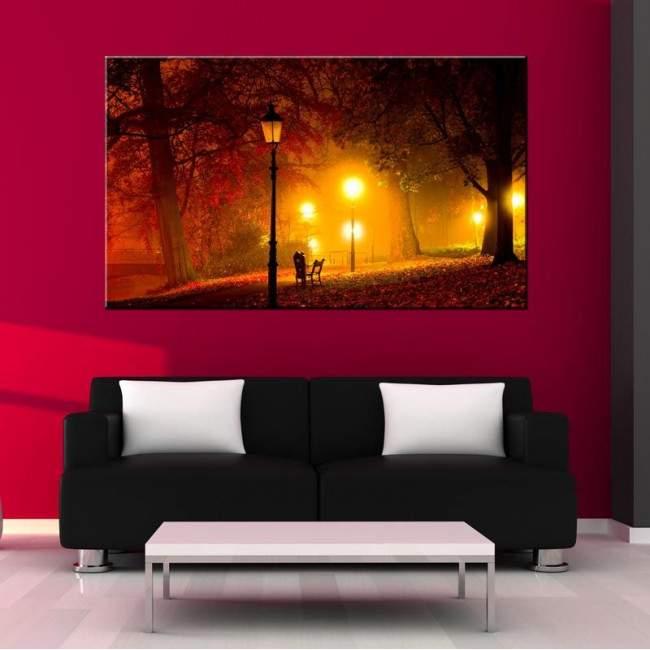 Canvas print Park, Light path