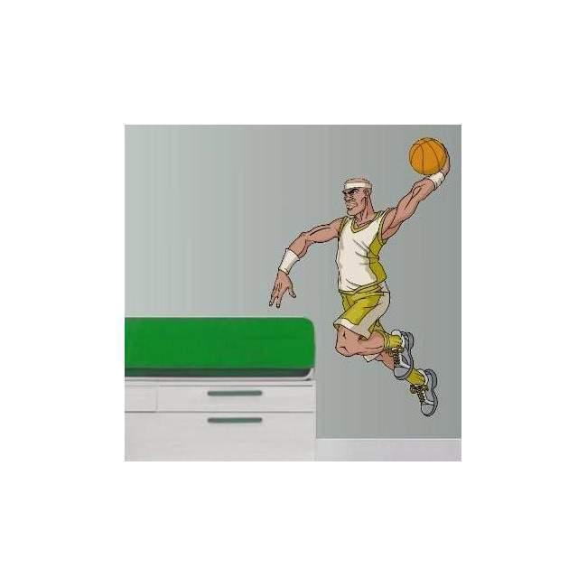 Αυτοκόλλητο τοίχου Μπασκετ κάρφωμα 8