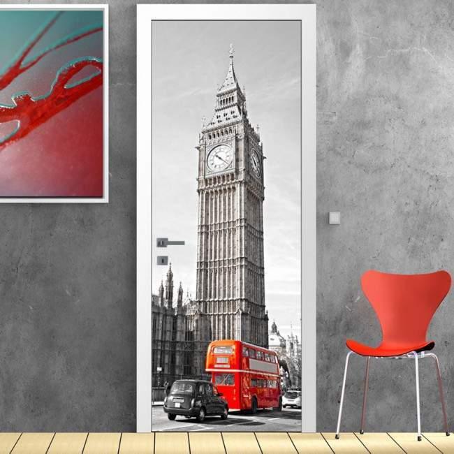 Αυτοκόλλητο πόρτας Big Ben, London