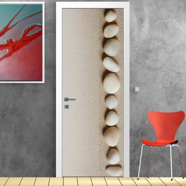 Αυτοκόλλητο πόρτας Stones and sand harmony