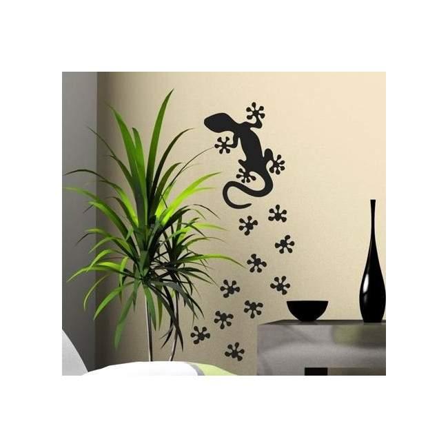 Αυτοκόλλητο τοίχου σαύρα, πατημασιές, Gecko lizard