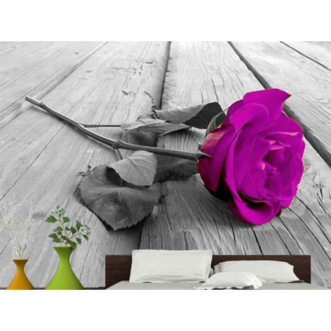 Ταπετσαρία τοίχου Purple rose