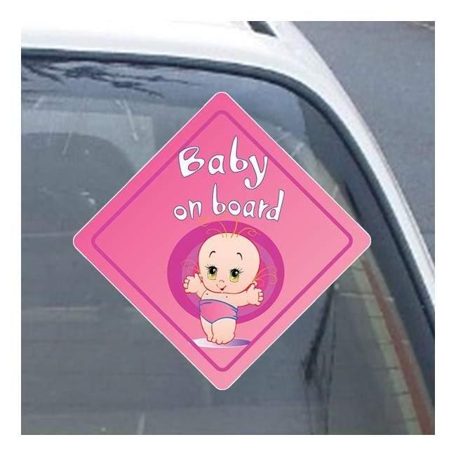 Αυτοκόλλητο αυτοκινήτου παιδικό Baby girl on board!