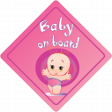 Baby car sticker Baby girl on board!
