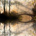 Παλιά γέφυρα στη λίμνη, ταπετσαρία τοίχου φωτογραφική