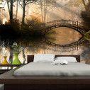 Ταπετσαρία τοίχου Παλιά γέφυρα στη λίμνη