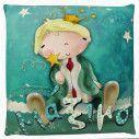 Πρίγκιπας , 100 % βαμβακερό διακοσμητικό μαξιλάρι, με το όνομα που θέλετε!