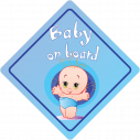 Baby boy on board! , Αυτοκόλλητο αυτοκινήτου ( Εξ. επικόλληση), κοντινό