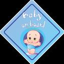Baby car sticker Baby boy on board!