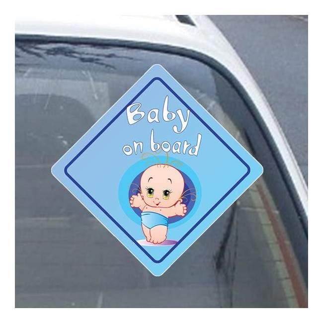 Αυτοκόλλητο αυτοκινήτου παιδικό Baby boy on board!