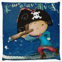 Πειρατής , 100 % βαμβακερό διακοσμητικό μαξιλάρι, με το όνομα που θέλετε!