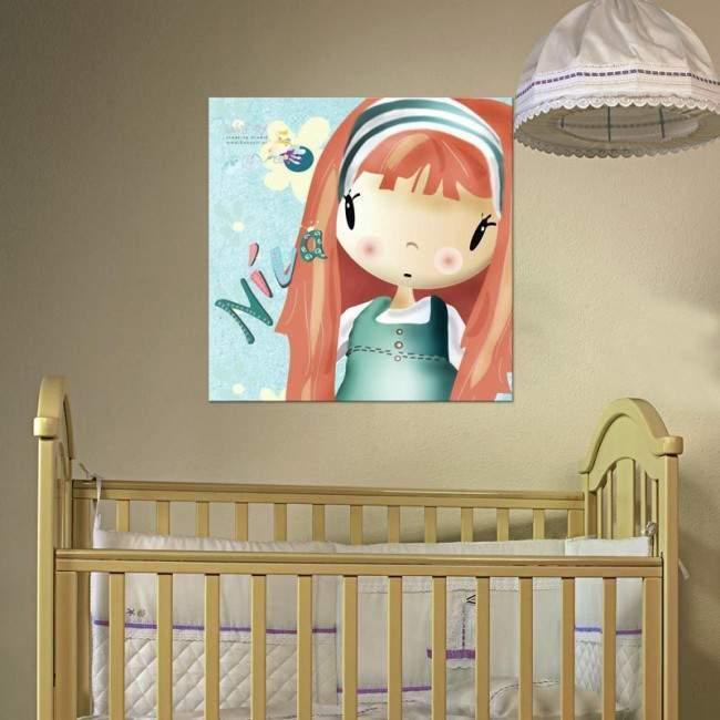 Πίνακας παιδικός σε καμβά So Cute, με όνομα