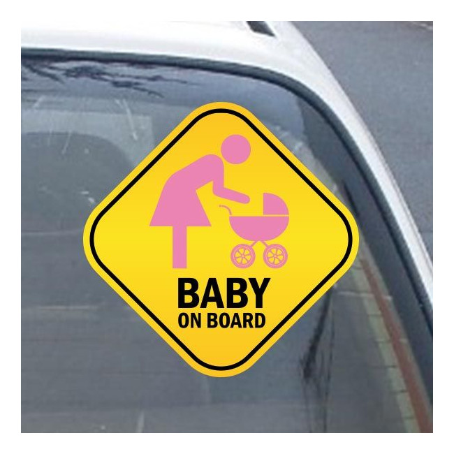Baby car sticker Mother and baby on board!