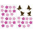 Butterfly Blowing Cherry dark brown, αυτοκόλλητα τοίχου