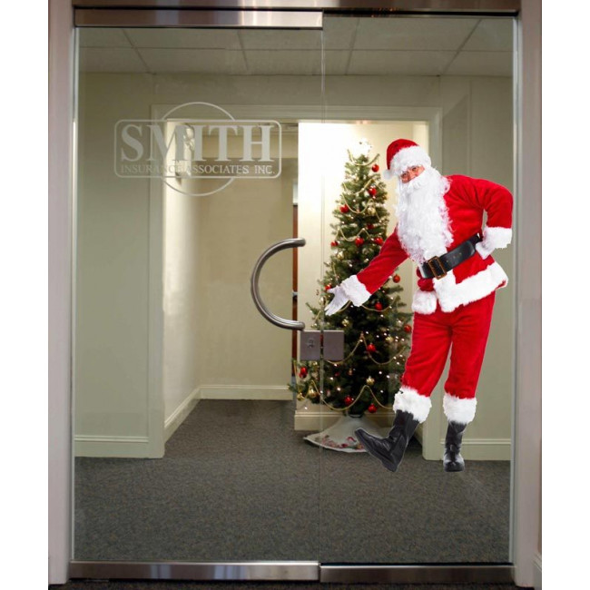 Store front sticker Santa Claus