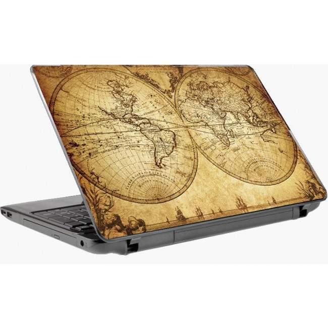 Vintage map αυτοκόλλητο laptop