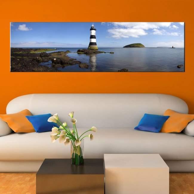 Πίνακας σε καμβά Φάρος, Lighthouse, πανοραμικός