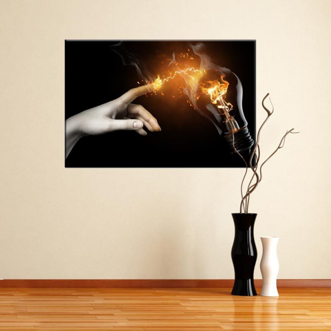 Canvas print Electric touch