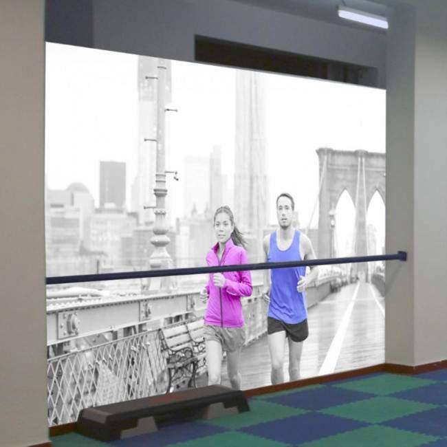 Ταπετσαρία τοίχου Running at Brooklyn bridge