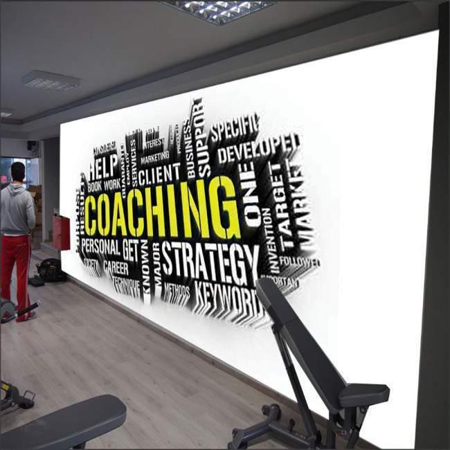 Ταπετσαρία τοίχου Coaching word cloud