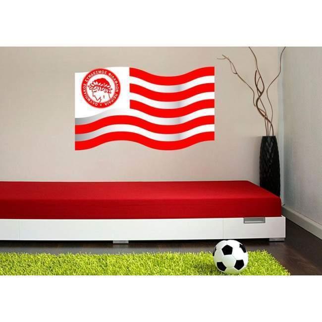 Αυτοκόλλητο τοίχου Σημαία του Ολυμπιακού