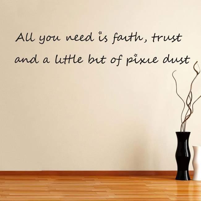 Αυτοκόλλητο τοίχου φράσεις. All you need is...