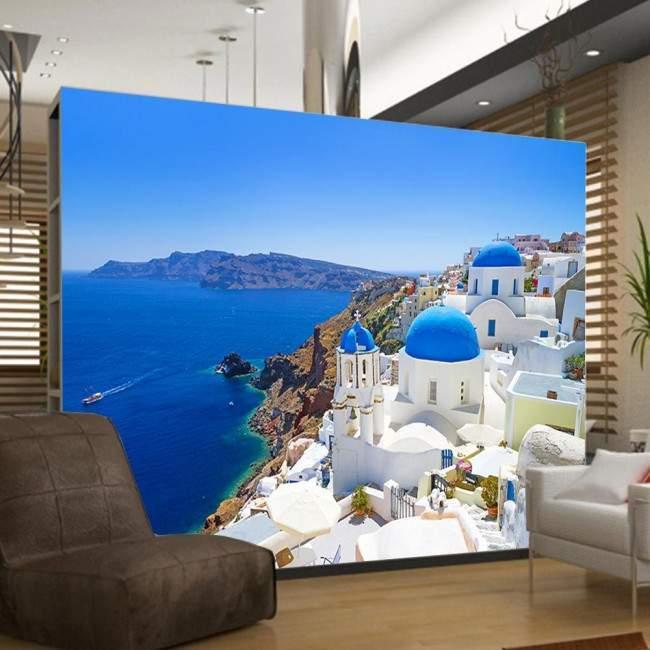 Ταπετσαρία τοίχου Santorini instance