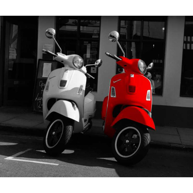 Wallpaper A Vespa couple