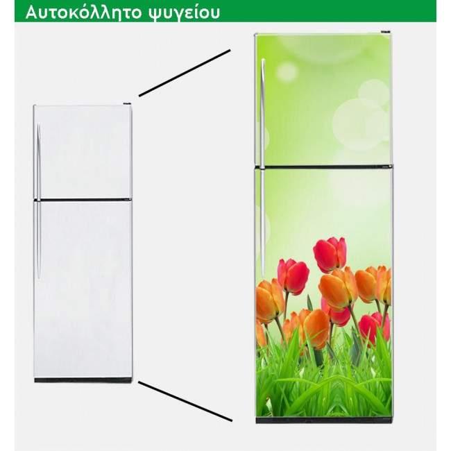 Αυτοκόλλητο ψυγείου Tulips