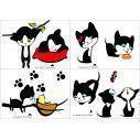 Kids wall stickers Playful kittens