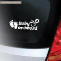 Αυτοκόλλητο αυτοκινήτου παιδικό Baby on Board