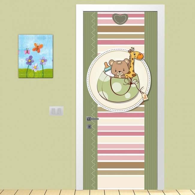 Αυτοκόλλητο πόρτας Cute colors, παιδικό