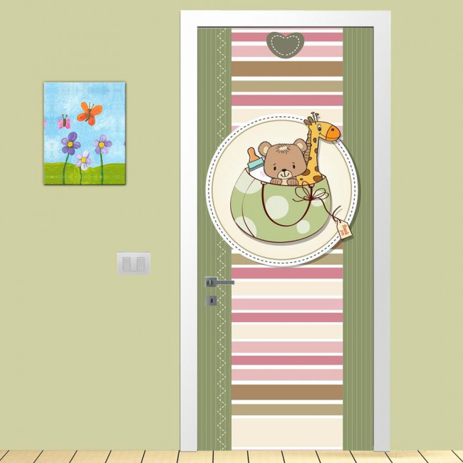 Door sticker Cute colors, for kids
