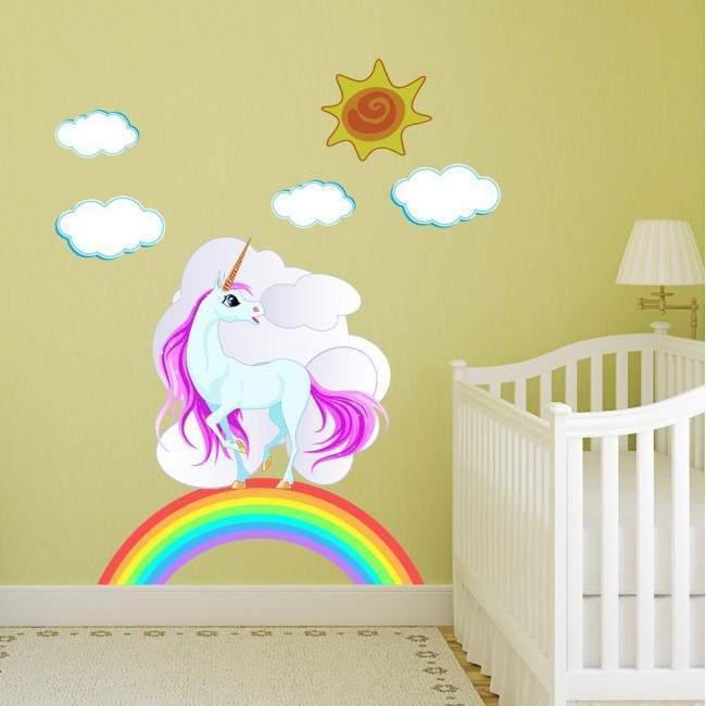 Kids wall stickers Unicorn with Rainbow