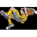 Μπασκετ κάρφωμα 5 Αυτοκόλλητο τοίχου , κοντινό